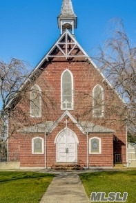 Property is 10.2 ac, Church is 3240, School building 9913', Rectory 3396', Carriage House 726', and 3.2 ac of vacant land on Griffing. The 10.2 ac has ample space for residential and commercial improvements; irregular in shape BUT offers substantial Building envelopes.The Town Board of Southold approved a floating zone to enable Churches, Historical buildings to apply for broader uses such as retail, office, child care etc. Property is being sold in entirety.Floor Plans of each structure are avai