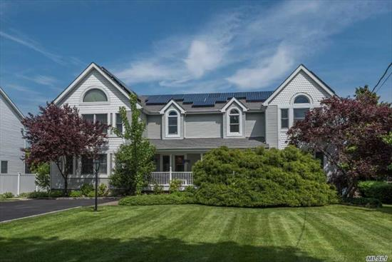 Beautifully Renovated Waterfront Colonial w/4, 000+/- SF w/98' on Willetts Creek. EF w/Cath Ceiling, LR w/Fpl, FDR, EIK, Office, BR, FBth, Den w/Fpl, .5 Bth, Laun Rm on 1st Fl. 2nd Fl has MBR w/MBth, 2 More BRs & FBth on So Side w/2nd MBR w/MBth, 6 BR & FBth on No Side. Fin Bsmt w/Media Rm. Elevator from Bsmt to 2nd Floor. Shy 3/4 Acre w/Outdoor Kitchen & Hot Tub, 15' x 27' Inground Pool & Shed. X Flood Zone: $534/Year.