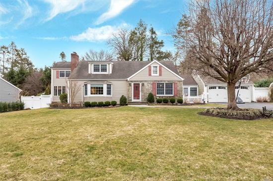 Sought after North Shore Acres Community is this charming Colonial home. Move-in condition with updated kitchen w/bkfst rm, vaulted ceilings & skylight, formal Dr, Lge. LRW/FP, office, entertainment rm, 1/2bth, new HW flrs., throughout, 2nd Fl: 2Bd, Hall bth, Master suite & Full bth, generous closets. Step outdoors to your beautifully landscaped property surrounding your new salt water heated pool with waterfall. Water filtration system, Glenwood Landing Elementary (TAXES $16, 886.35)