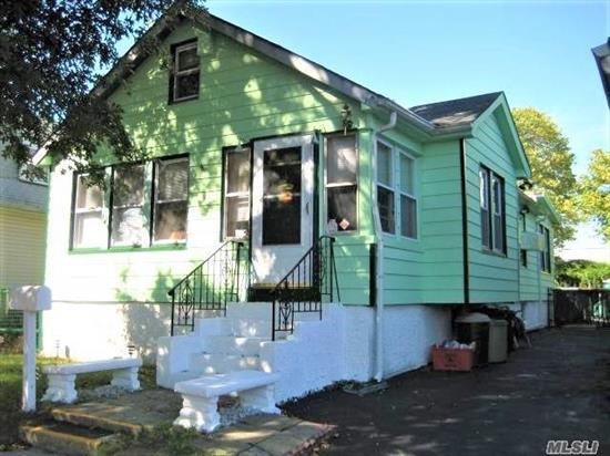 Good things come in small packages. Bungalow with good bones and nice sized rooms. Your creativity and TLC will turn it into an adorable first home or downsizer. LOW LOW TAXES. Larger than it appears from outside. 1 short block from bus to points east or west for easy commutes. Steps from shopping, dining, recreation, state of the art public library, Broadhollow Theatre for live entertainment and every convenience. Quick access to parkway. Near new LIRR that's coming soon.