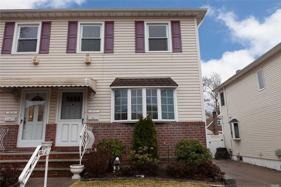 Semi-Detached Colonial in the Heart of Whitestone, One Family 3 Bedrooms 1.5 Bathrooms , School District 25 Private Driveway Detached Garage , Low Taxes . Hardwood Floors . Near Shopping and Transportation , Very Well Maintained