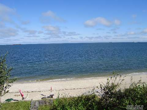 Charming Ranch W/Deck Overlooking Beach And Li Sound Steps Away.  3 Br, 2Ba, Great Rm, Kit, Full Finished Basement, 2 Decks.