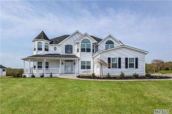 Beautiful Victorian Home Built In 2015. Located In New Luxury Home Community With Many Upgrades! Frml Lr & Frml Dr, Family Rm W/Fpl, & Arched Wall To Chefs Eik W Granite Counters & Ss Appliances, Sunroom, Oak Flrs, Central Air & Vac, Custom Master W/ Suite, + 4 Bdrms, 1 1/2 Bath, 3 Car Garage, Paver Walkway & Driveway. Wraparound Porch, Large Deck & Security System!