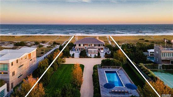 One Of A Kind Meticulous Oceanfront Gem In Prime Location - Between The Bridges, On Dune Road. Do Not Miss This Opportunity To Spend Your Summer In Westhampton Beach W/ OCean Views, Heated Gunite Pool W/ Cabana.