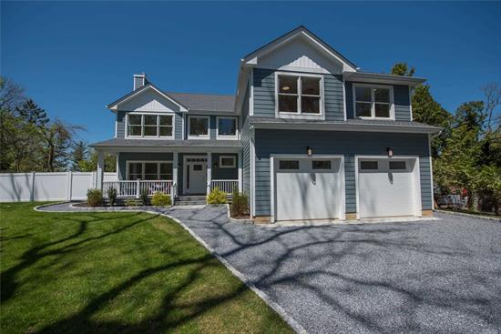 Beautiful New Post Modern Contemporary Home with Traditional Vibe with Great Waterviews of Long Island Sound. White Oak Flooring throughout, Green Features, Spacious Rooms. Kitchen Features Center Island, Recessed Lighting and Bertazzoni Appliances. First Floor Master Suite and Second Floor Master Suite. Sliding Door from Great Room to Huge Deck. Covered Front Porch. Two Private Beaches and Mooring with Association Dues. Architectural 30 Year Roof. Full Basement with 9 foot Ceiling and Outside Entrance. Open Floor Plan. Sunny and Bright Home. Truly a Delight!
