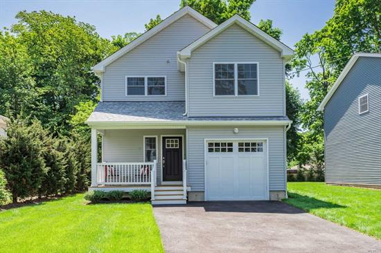 New Construction ! Beautifully appointed Colonial within a short stroll to Huntington Village featuring spacious EIK w/ Granite Counter tops, stainless steel appliances, Formal DR , Living room w/FP, Master Suite w/ large walk in closet , Full basement and more. Won't Last !
