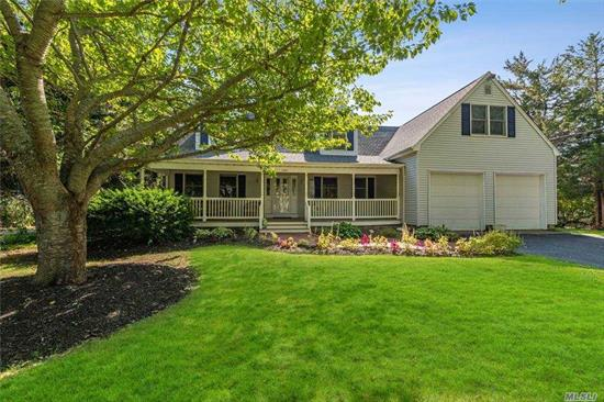 Located in the Southold Beach park district neighborhood, this immaculate colonial is ready for summer, with its grand pool and patio in a private setting. The open large chefs kitchen is turn key for entertaining. Home includes formal dining room, den, family room with fire place, master bedroom with bathroom, 2 additional bedrooms and 2 extra bonus rooms. Boat ramp is just steps away to launch your water craft,  Enjoy this home forever!