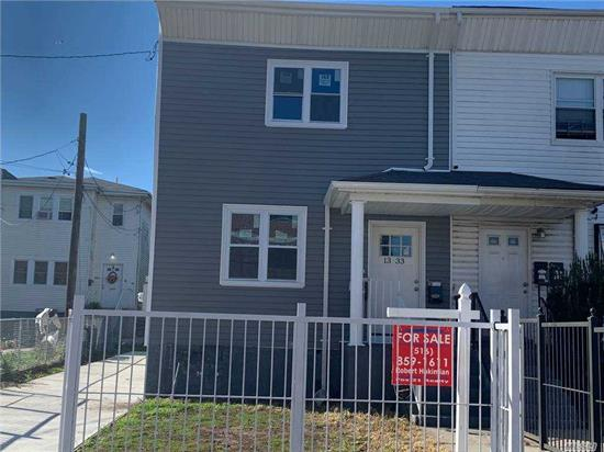 BUY THIS TWO FAMILY FOR $22, 350 WITH MONTHLY PAYMENT OF APRX $3500/ M. NICELY RENOVATED. LIKE BRAND NEW. LEGAL TWO FAMILY SD FRAME. 2 BR 1 BTH APARTMENTS ON FLOORS 1 &2. CRAWL 5 FT HIGH UNFINISHED BASEMENT. SEPARATE HI EFFICIENCY COMBO BOILER HWT UNITS ON EACCH FLOOR. NEW ROOF AND SIDING. 11 FT PRIVATE DRIVEWAY. HUGE BACKYARD 27.7X164 FT. CLEAN STREET BLOCK. 4 MIN WALK TO A SUBWAY STATION AND SHOPPING. COUPLE MILES FROM MANHATTAN NYC FERRY. VIRTUAL TOURS