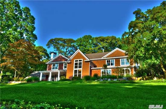 Hamptons' Grandeur & Manhattan Chic! Custom Cedar Shake Hilltop Home. 2 Acres Stunning Prof Landscape. 9' Ceilings And Oak Floors. Radiant Thruout. 3 Fpl, Open Liv.Area W/Flr To Ceiling Windows. Chef's Kit W/Therm.Oven, 3 Islands, 2 Dw, Bkfst Bar. Dbl Foyer, Mstr W/18' Ceiling, Fpl, Walk In Shower, Tub For 2 & Balcony . Fin Bmnt. 20X40 Htd Pool, Pavilion, Ldscp Lighting.