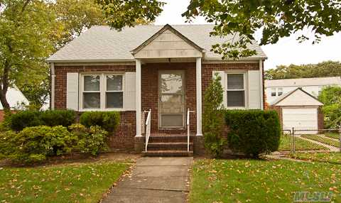 4 Room Brick Cape, 2 Bedrooms, Finished Basement, Det. Garage, Appliances As Is! Quiet Street.