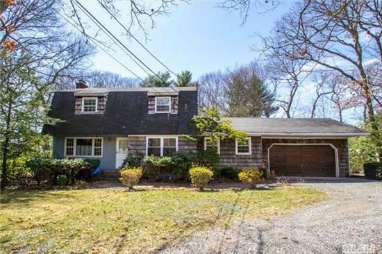 Great Opportunity. Private Secluded Flat Acre, 3 Bedrooms, 2 Baths, Center Hall Colonial, Circular Driveway, Alarm, Great Room Sizes, Incredible Location, Convenient To All! Sd #13.