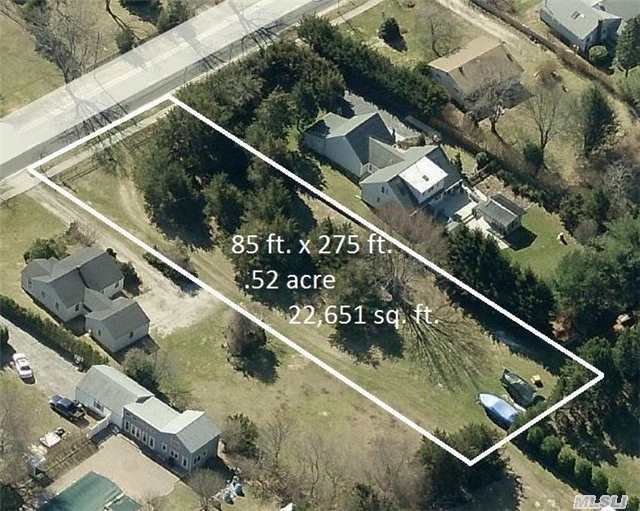 1/2 Acre (85' X 275') Vacant Residential Lot At An Extremely Affordable Price For South Of Montauk Highway. Within Remsenburg/Speonk School District. Call For More Information.