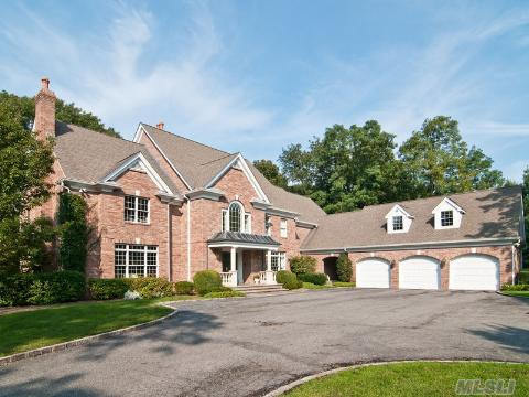 Exceptional Custom Built All Brick Classic Colonial.  Two-Story Foyer With Bridal Stairs, 9 Ft Ceilings, Beautiful Windows And Mouldings Through-Out.  Spectacular 2 Acre Property With Winter Water Views. Situated In One Of The Most Deisrable Neighborhoods In Lloyd Harbor.  Nearby Village Park With Summer Camp, Tennis And Mooring Rights.  Great Value In Prime Location!