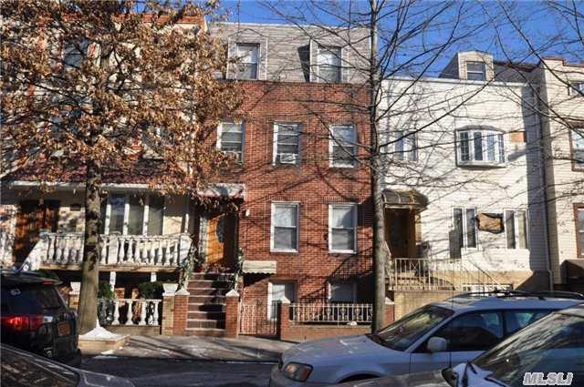 2 Family Brick Located On Manhattan Ave. (Between Devoe St. & Metropolitan Ave). 1st Fl & Bsmt-Duplex And 2nd Fl/3rd Fl-Duplex-Private Yard.