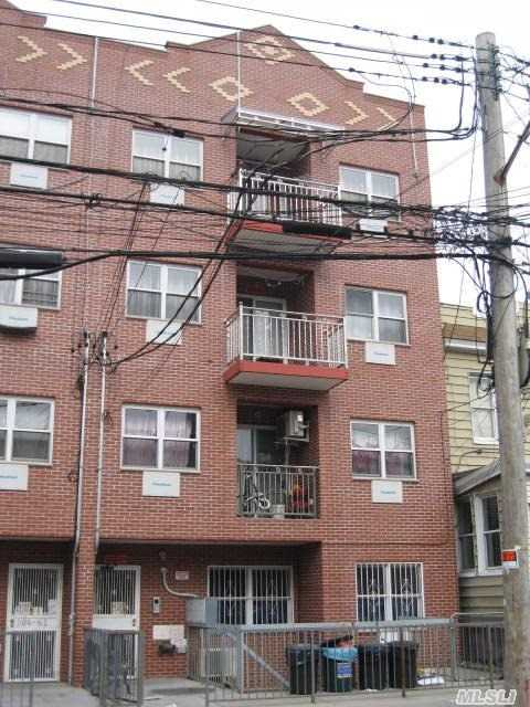 15 Yr Tax Abatement (9 Years Left) Lr/Dr, 2 Br , 2 Full Bath, Balcony. Close To Supermarkets, #7 Subway Station And Q42 Bus Station Right On The Corner. 8' Ceiling, Hard Wood Floor,  Washer/Dryer In The Unit.