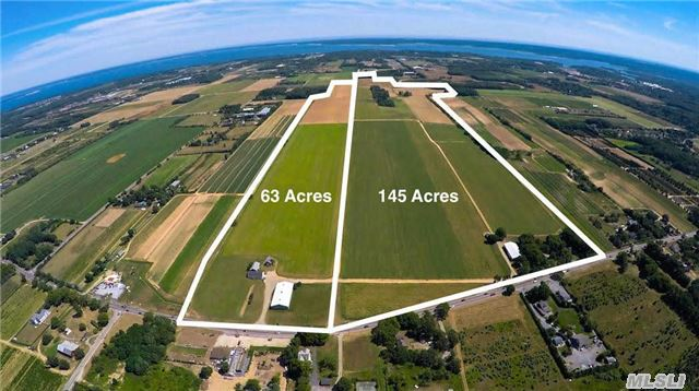 Sound Ave Farm For Sale,  With Morton Building And 2 Out Buildings Located On The South Side Of Sound Ave,  Just West Of Manor Lane,  Jamesport. Ideal Location For Nursery,  Vineyard,  Field Crops Or Greenhouses. Irrigation On Property. 145 Acres,  With More Land Adjacent Available. Highly Visible North Fork Farm. Turn Key For All Of Your Agricultural Pursuits!