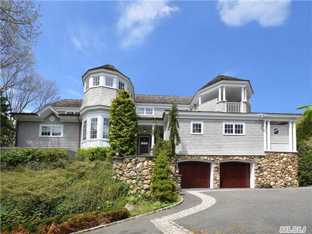Coastal Living At Its Best! American Shingle Style Home Built In 2002 Overlooking Hempstead Harbor--Views To Ct. Long Private Drive, Elevator To Every Floor, Multiple Decks O'looking Harbor & Pool--200' Of Beachfront--Brand New Bulkhead. Many, Many Amenities. Come For Your Private Showing. One Of Sea Cliff's Finest!
