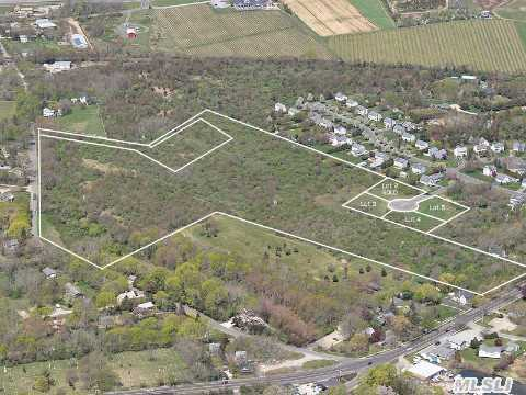 One Of Four 3/4 Acre Lots Set In A Cul-De-Sac .Level And Approved. Close To Town,  Beaches,  Bus,  Transportation,  Vineyards,  Farm Stands And Golf Courses. Jitney Bus Transportation To Manhattan At The Corner.  ( Lot#2 Has Been Sold )