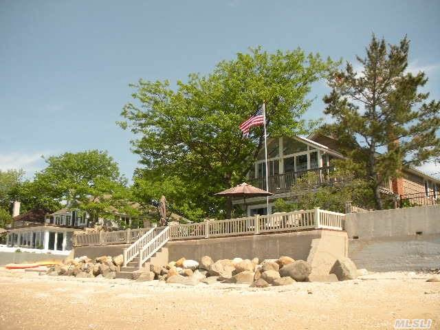 Rare Opportunity To Purchase Bay Hills Waterfront Home With Private Beach. Truly A Lifestyle In Paradise. Amazing Views & Sunsets. Five Mile Walkable Beach. Great Hamptons Alternative. Must See! House Is Larger Than Appears. Check Out Floor Plan. Low Taxes Taxes W/Star $12, 478.57