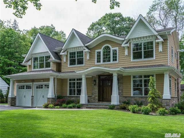 New Construction Colonial In The Flower Hill Section Of Roslyn. Quality Craftsmanship Shows Throughout This 4200 Sq Ft Home From Coffered Ceilings To Custom Marble Chef's Kitchen. Expansive Master Suite With Spa Bath And Large Closets.