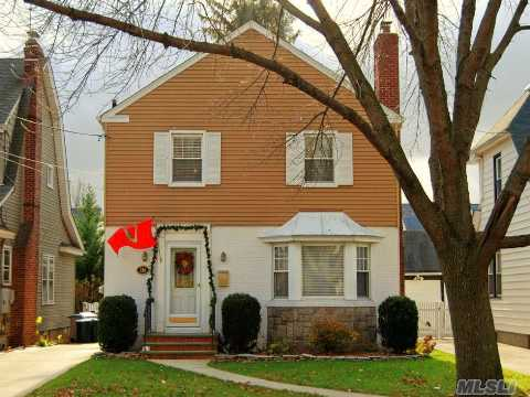 Move Right Into This Beautiful Updated Side-Hall Colonial!  You Will Love The Spacious Rooms, Including The Living Room With A Fireplace, Huge Fdr, Large Eik With Stainless Appl, 2 New Baths, Oak Floors Throughout, Newly Finished Basement With Fabulous Rec Room, New Deck With Awning, Fenced Yard, New Roof, New Burner. Just Blocks To Lirr And Shops. Floral Park Memorial Hs!