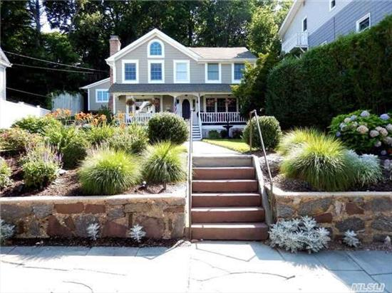 Wow Incredible Village Home Restored To Perfection! New Roof Siding Windows Driveway Decks Landscaping Lattice Fence Appliances, Too Much To List.. Artist Studio Or Professional Home Office Above Garage. No Detail Is Left Undone.