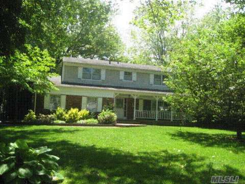 Wonderful 5 Bedroom, 2.5 Bath Colonial W/Full Finished Basement On Beautiful 1/2 Acre! Lr W/Fireplace, Hardwood Floors, Pella Windows, Newer Cac, Roof & Cedar Siding 10 Years Old, Cesspool 2 Years Old, Newer Driveway W/Cobblestone, Beautiful Property W/In-Ground Gunite Pool, Igs, Shed, & More! All Located On Quiet Cul-De-Sac! A Must See!