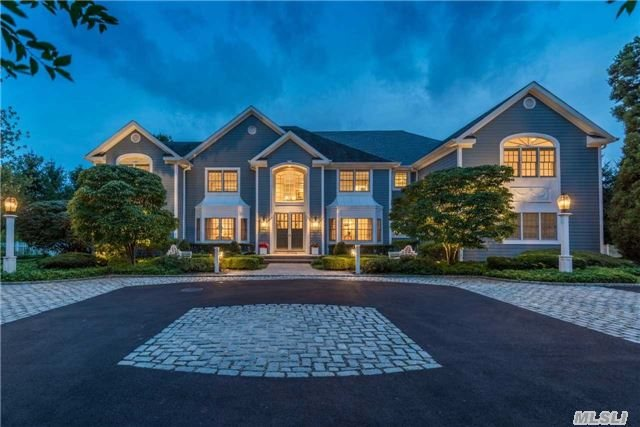Entertainers Delight! Picture Perfect 6, 100Sqft, 6Bd, 7.5Ba Colonial Set On 2.46-Acres. Complete W/Mahogany Library, Wood-Burning Fireplace, Gourmet Kitch, Open Floor Plan, Guest Wing, Gym&Amazing Home Theater.Resort-Style Living, Backyard W/Brazilian Decking, Built-In Bbq, Inground Pool, Hot Tub & Tennis Court. Deck & Patio Overlook The Tranquil Property.
