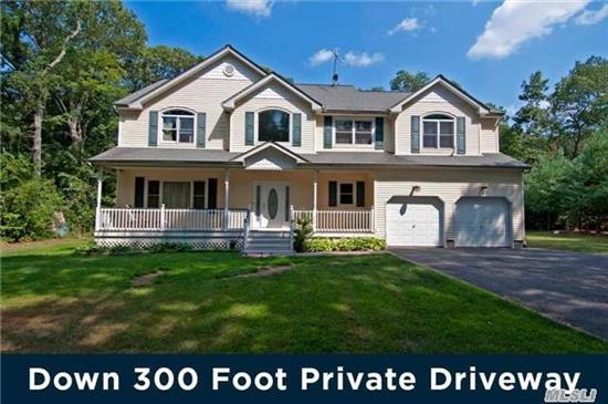 Down A 300' Private Driveway! Stunning Large Granite Kitchen, Incredible 2 Story Fr W/Fplc, Hi Ceilings, Over-Sized Bedrooms, Impressive Master & Bath, Oak Floors, Cac, Cvac, Full Dry Basement W/Hi Ceilings & Ose. Shy Acre- Room For Pool. 300' Driveway, Like Living On Your Own Private Lane. Spk System. Gas Heating & Cooking. Mint & Clean Sunny Home. Great Taxes!