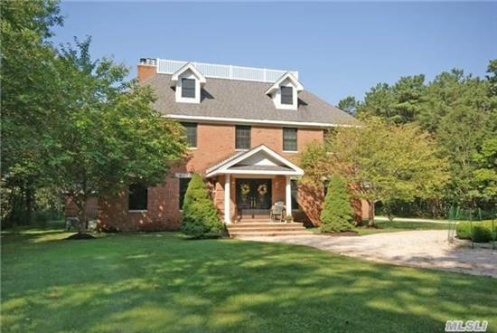 Estate Living Awaits In This 4, 500+ Sq. Ft. Colonial On 2.7 Equestrian Acres. Complete With A Grand Entry Foyer, Gourmet Kitchen, Frml Dr W/Butlers Pantry, Lr W/Fplc, Library W/Fplc, Half Bath & Mud Rm. 2nd Flr Mstr Suite W/Dressing Rm & 3 Additional Guest Bdrms & Full Bath. Enjoy The Third Floor Bonus Rm With Access To A Pvt Roof Top Deck! Room For Pool & Tennis.