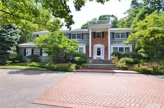 Winding Pvt Country Road In Inc Village Of Hunt Bay Leads To This Stately Center-Hall Colonial On 1.19 Private Acres. 1 Blk To Nathan Hale Deeded Beach Association With Dock And Mooring. Private Fenced 16P Area To Side Of Lush Yard/Patio.  Min To Thriving Downtown Huntington Village And Lirr. Auto Natural Gas Generator.