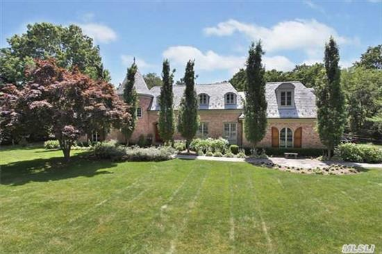 One Of A Kind 7700 Sq Ft.European Inspired Custom Home Less Than One Mile From Pvt. Beaches And Elem.School. All Brick W/ Slate Roof/Copper Gutters./Marvin Windows/Mahogany Moldings/Floors, Custom Wrought Iron Winding Staircase, Mahogany Gourmet Kitchen/Butlers Pantry. Fr Doors Lead To Covered Porch And Pool .Exceptional Details Cannot Be Duplicated For The Asking Price!
