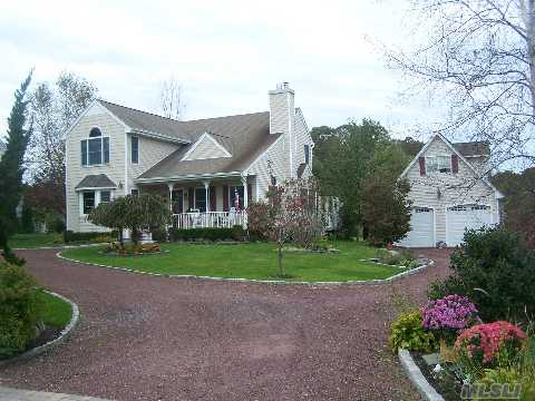 A True Treasure, Custom Moldings, Move In Condition, This Home Has Everything, Preserved Land Borders Rear; Cac, Cvac, Igs, Granite Kitchen, Ctr Isl Seats 4, H/W Floors, Lr W Fp, Den, Large Fdr, Tree Lined Front Provides Ultimate Privacy, Det.2+ Car Gar W Loft, Laundrm, Half Bath, Mbr Suite, 2 Brs, Full Bath, Full Basement W Plyrm,Prof.Landscaped, Outdoor Shwr,Lgreardeck