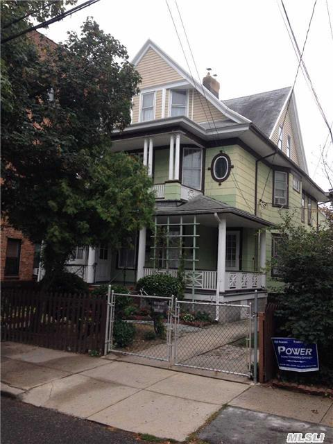 True Victorian With All The Original Details That Make This Home A Showcase. Huge Sq Footage With Tons Of Space For All. Mint Hardwood Floors, Wood Moldings And High Ceilings Are In Every Room. 2nd And 3rd Floor Can Be Used As Huge Duplex. New Incoming Water.