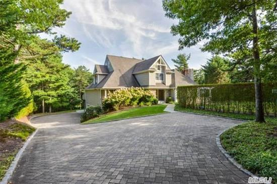 Magnificent 4300 Sq Ft Post Modern With Gourmet Chefs Kitchen & Butlers Pantry, Formal Dr, Lr W/Cathedral Ceilings & Fp, Master Suite W/Office, Private Deck & Guest En-Suite. Let The Grand Double Wide Stair Case Lead You To The 2 Additional En- Suite Guest Rooms & Loft. Enjoy All That The Hamptons Has To Offer In Your Secluded Backyard W/Heated Ig Pool & Hot Tub.